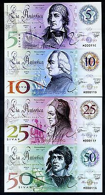 Set, Lia Antootica, 5;10;25;50 Sivar, 2017, Polymer, UNC > Pirate Notes