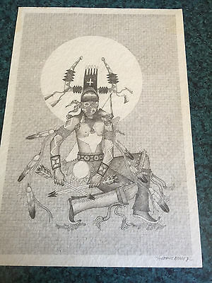 Tomas Dougi famed Apache /Navajo sculptor and Artist Signed and Numbered Print