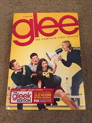 Glee: The Complete First Season (DVD, 2010, 7-Disc Set). Free Shipping