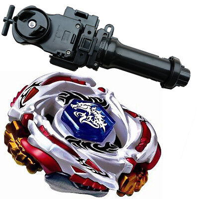 Beyblade BB88 Metal Fusion LW105LF Meteo L-Drago Battle Top Starter+Black+grip