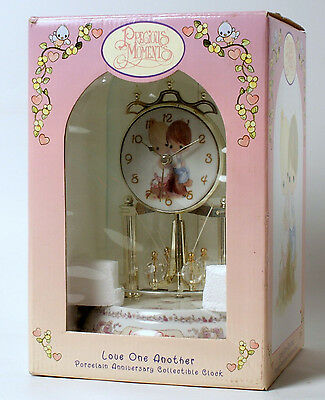 2000 Precious Moments Porcelain Base Anniversary Dome Clock Love One Another