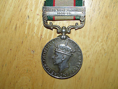British Medal India General Service Bar North West Frontier 1936-37 George VI