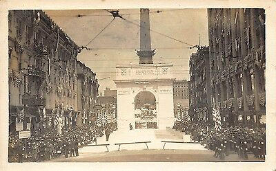 INDIANA REAL PHOTO Monument Circle World War I Victory Arch at Indianapolis, IN