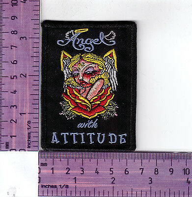 Queen Of F/'ing All Lady Bikers Vest Jacket  Embroidered Badge Cloth Patch