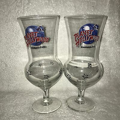 2 Planet Hollywood Hurricane Glasses - Niagra Falls & Washington DC