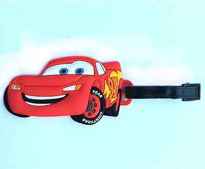 Cars McQueen Rubber Travel Luggage Tag/ Bag Tag/ Name Tag/ ID Card Holder