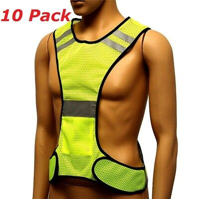 High Visibility Reflection Jacket Reflective Vests Safety Waistcoat US Stock