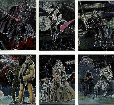 Star Wars Galaxy Series 1 - Complete Chase Card Set (1-6) 1993 Topps @ Near Mint