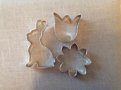 Spring Time Cookie Cutters, Set of 3, Daisy, Tulip, Bunny