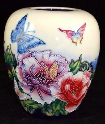 Old Tupton Ware 15cm Vase - Butterflies Design - TW3002 NEW BOXED