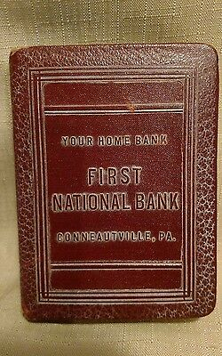 Vintage Book Bank 1923 The First National Bank of Conneautville,PA.no key