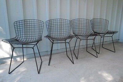 Bertoia For Knoll Set Of 4 Side Chairs Mid Century Modern