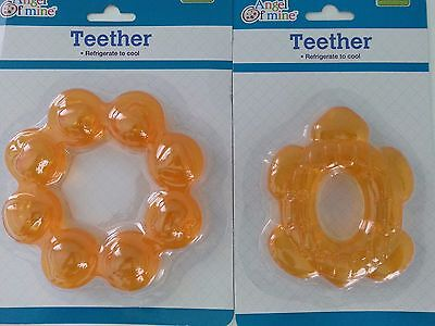 BABY TEETHING TEETHER RING Angel of Mine BPA SAFE Refrigerate to cool TURTLE New