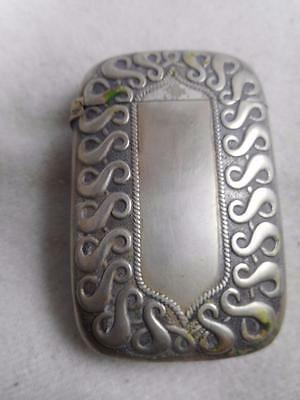 "Arts & Craft Silver Soldered Maltby Stevens & Curtiss  Curving ""S"" Match Safe"