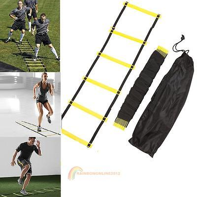 Agility Speed Sport Training Ladder 10FT 2.7m Soccer Fitness Boxing 5 Rung +Bag