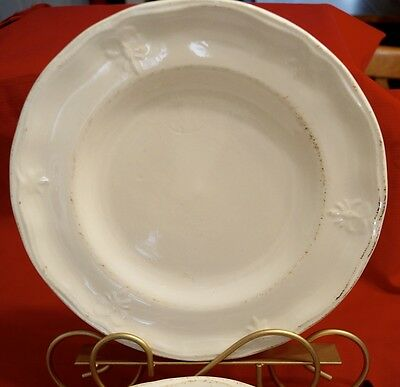 """Set Of 8 Churchill Country Craft Sandstone 11-1/8"""" Dinner Plates Rustic Embossed"""