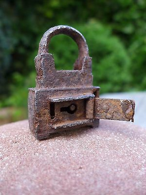 Antique Small Padlock No Key, Rust, Unique, Collector