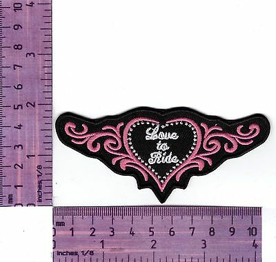 Love To Ride Lady  Bikers Vest Or Jacket Embroidered  Cloth Patch