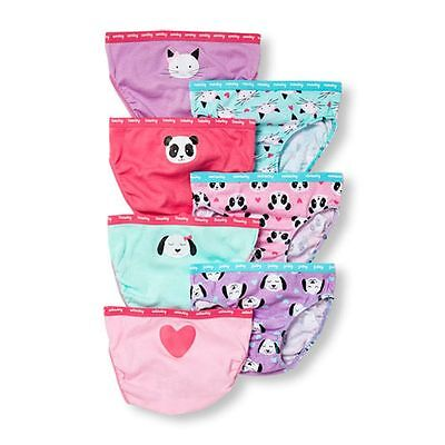 New The Children's Place 7 Pack Underwear Girls NWT  Happy Faces 2T 3T 4T 5 Year