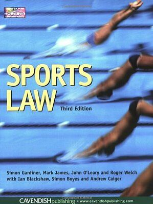 Sports Law, Welch, Roger Paperback Book The Cheap Fast Free Post