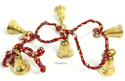 """""""Brass Bells On String"""" Indian Hippy Belly Dancing (6 Extra Large Bells)"""