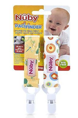 Nuby BPA Free 2 Pack Fabric Pacifinder - Girl or Boy