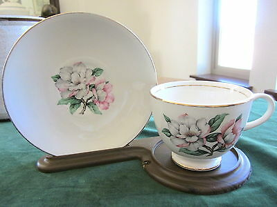 MAGNOLIA CUP & SAUCER Cunningham & Pickett on Homer Laughlin