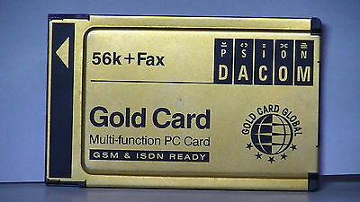 Psion Dacom Gold Card Global S99-2318-2 56k+Fax PCMCIA Card -no dongle