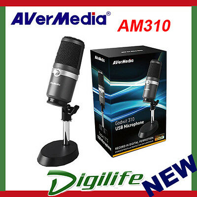 AVerMedia AM310 USB Microphone for Studio Quality Sound, Live Streaming