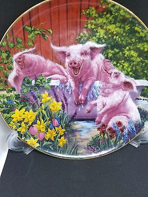 "Danbury Mint Collector Plate ""Hog Wash"""