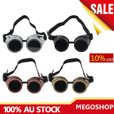Cyber Goggles Steampunk Glasses Vintage Retro Welding Punk Gothic Victorian WW