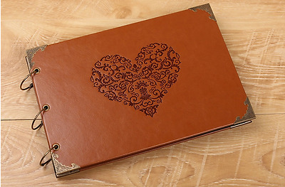 DIY BK 30 PAGE PU Leather 34cm x 23cm Photo Album Wedding Baby Guest Scrapbook