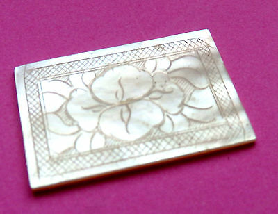 Anique  Pearl Sewing Thread Winder,engraved Blossom  Both Sides.