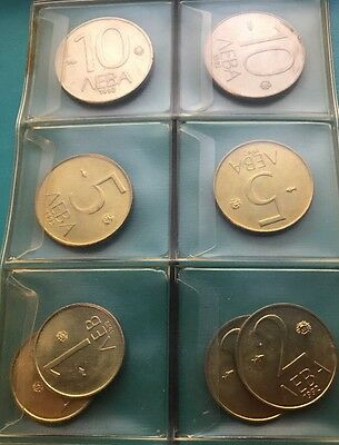 Bulgaria ,Lot of 8 Coins ; 1 , 2 , 5 , 10 Leva .AUNC.