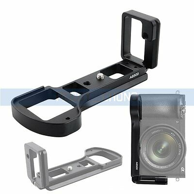 L-Shaped Metal Quick Release Plate Camera Bracket Holder for Sony A6500