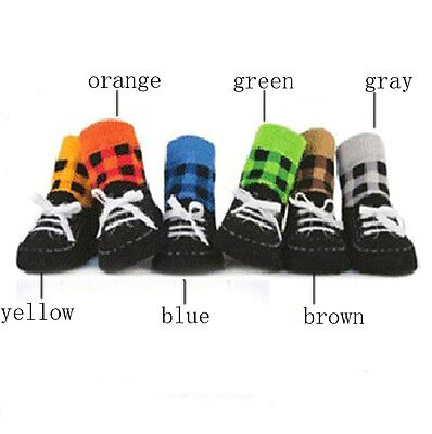 Toddler Baby's Cotton Soft Shoes Anti-slip Slipper Kids Doft Shoes Socks Orange