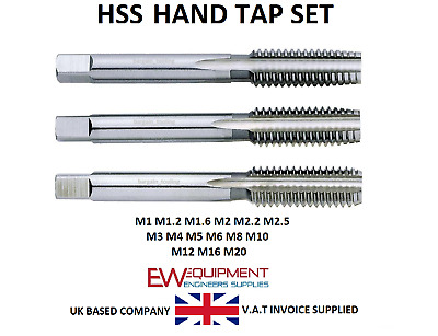 Hss Metric Hand Tap Set, Single, Taper, Plug & Bottoming Engineering Tools Model