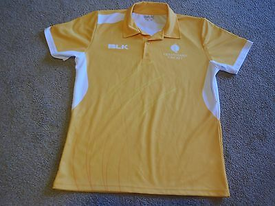 CRICKET QUEENSLAND  POLO SHIRT  by BLK . SIZE LARGE