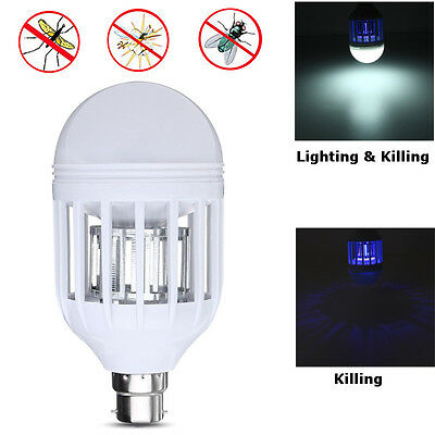 2 In 1 E27/B22 Dual LED Bulb Anti-Mosquito Flying Zapper Insects Killer Light