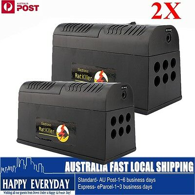 2X Electric High Voltage Home Electronic Mice Rat Mouse Killer Rodent Repeller