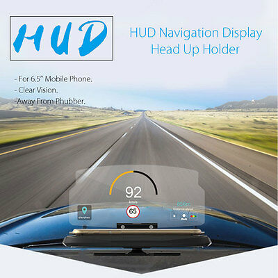 Universal Car HUD Head Up Navigation Display Cell Phone Holder Stand Projector
