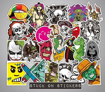 Stickerbomb Stickers 10 or 25 Mixed Funny Laptop Phone Skateboard School PC iPad