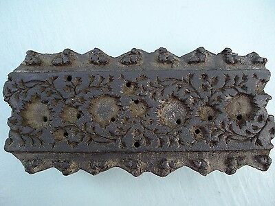 Antique Indian Wooden Printing Block for Printing By Hand on Fabric, Silk etc