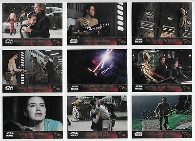 Star Wars The Force Awakens - Complete Chrome Card Set (1-100) 2016 @ Near Mint