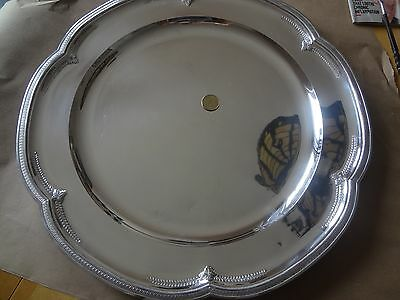 stunning sterling  silver  tray 2000 grams whit french mark maybe 1778 paris !