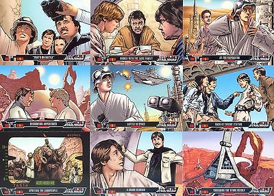 Star Wars Illustrated - Complete Card Set (1-100) 2013 Topps @ Near Mint