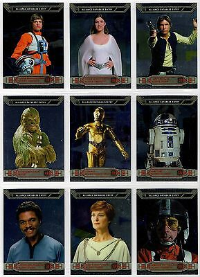 Star Wars Chrome Perspectives - Complete Card Set (1-100) 2014 Topps @ Near Mint
