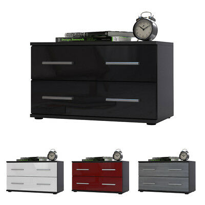 nachttisch nachtschrank 65 cm hoch nachtkommode wei. Black Bedroom Furniture Sets. Home Design Ideas