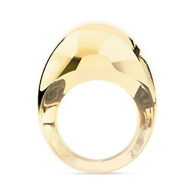 GENUINE LALIQUE Gourmande Ring Gold Luster New 10288600 FREE DELIVERY