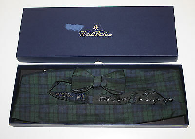 Brooks Brothers Formal New Blackwatch Bow Tie and Cummerbund Set SM/MED